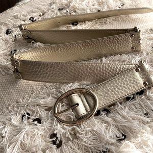 Cole Haan gold belt M